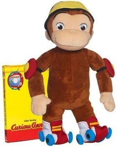 Curious George RollerBlade Plush Monkey
