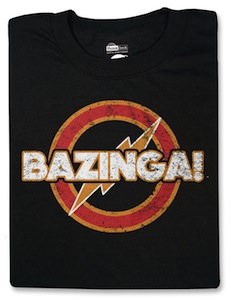 The Big Bang Theory Superhero Style Bazinga T-Shirt
