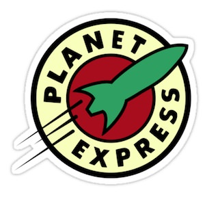 Futurama Planet Express Sticker