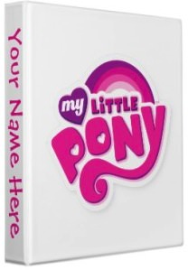 My Little Pony logo binder