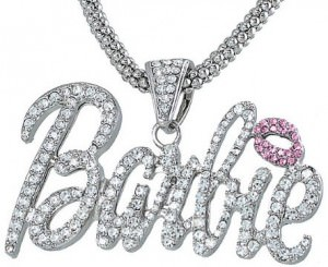 Nicki Minaj Barbie Crystal Pendant Charm Necklace