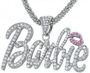 Nicki Minaj Barbie Crystal Pendant Charm Necklace