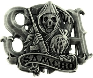 Sons Of Anarchy SAMCRO Reaper Belt Buckle