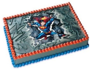 Superman Edible Cake Topper Image