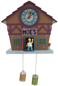 The Simpsons Moe's Tavern Cuckoo Clock