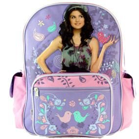 Wizards of Waverly Place backpack with Selena Gomez on it
