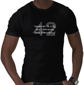 42 The Answer To Life The Universe And Everything T-Shirt