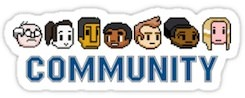 Community 8 Bits Character Sticker