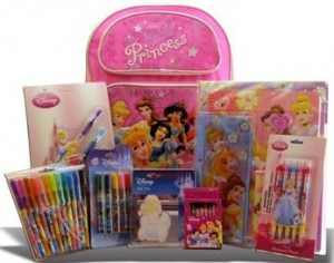 Disney Princess Back Pack And Stationary Set