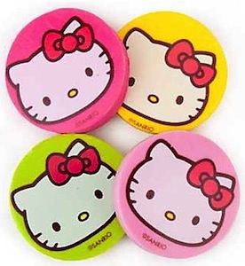Hello Kitty face eraser