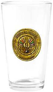 Hunger Games Crest drinking glass