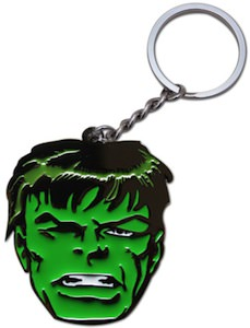 Incredible Hulk Face Key Chain