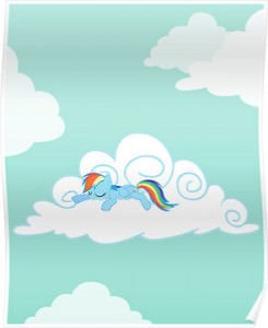 Rainbow Dash Sleeping Poster