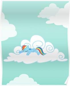 Rainbow Dash Sleeping Poster