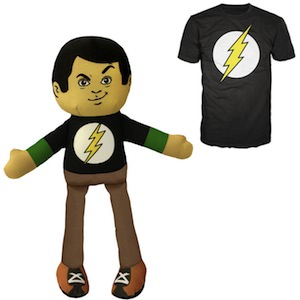 The Big Bang Theory Sheldon Cooper Plush and Matching T-Shirt