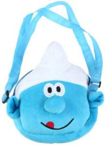 Smurfs Zipper Plush Bag