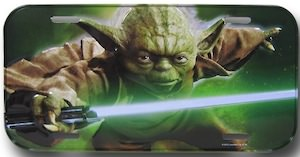 Star Wars Yoda License Plate