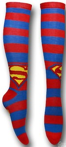 Superman Knee High Socks with Superman logo