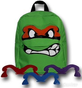 TMNT special big face with masks backpack