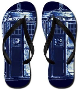 Doctor Who Tardis Flip Flops
