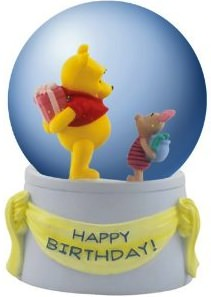 Winnie The Pooh and Piglet Musical birthday water globe