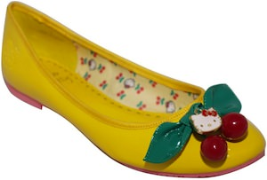 Hello Kitty Yellow Ballerina Flats