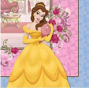 Princess Belle Party Napkins