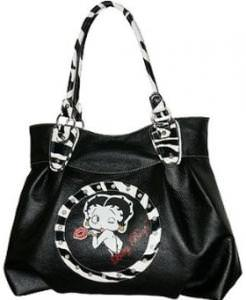 Betty Boop Zebra Print Handbag