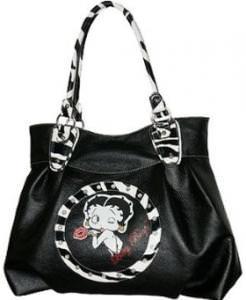 Betty Boop Zebra Print Handbag