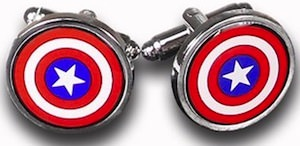 Marvel Captain America Shield Cufflinks