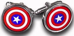 Marvel Captain America Shield Cufflinks