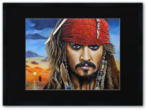 Pirates Of The Caribbean Captain Jack Sparrow Painting Print