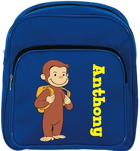 Curious George Blue toddler School Backpack