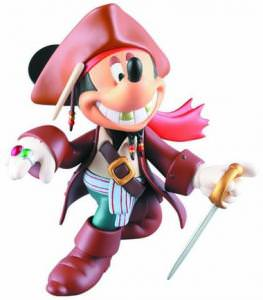 Disney's Mickey Mouse Jack Sparrow Figure.