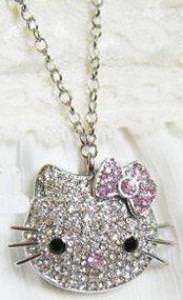 Hello Kitty Crystal USB Flash Drive Necklace