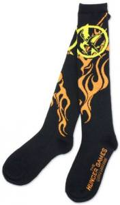The Hunger Games Mockingjay Flames Knee High Socks