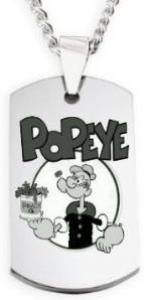 Popeye Dogtag Necklace