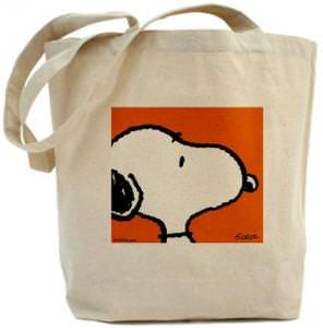Peanuts Snoopy Canvas Tote Bag