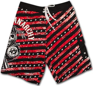 Sons Of Anarchy Red Stripes Boardshorts