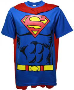 DC Comics Superman T-Shirt With Cape.
