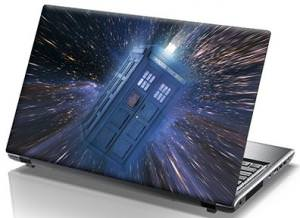 Doctor Who 15'6 Inch Tardis Laptop Skin Decal