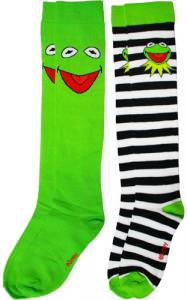 The Muppets Kermit The Frog Socks.