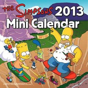 The Simpsons 2013 mini wall calendar
