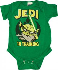 Star Wars Toon Yoda Jedi in Training Snap Suit