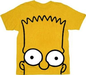 Bart Simpson Face T-Shirt