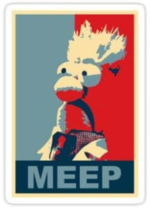 The Muppets Beaker Meep Vinyl Decal.