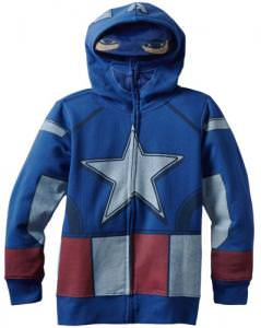 Marvel Captain America Full Zip Hoodie.