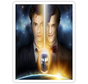 Doctor Who Two Timelords Sticker