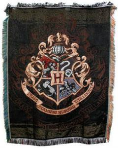 Harry Potter Exclusive Hogwarts Crest Tapestry Throw from Warner Bros.