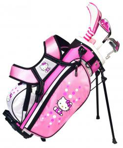 Hello Kitty Juniors Golf Club And Bag Set.